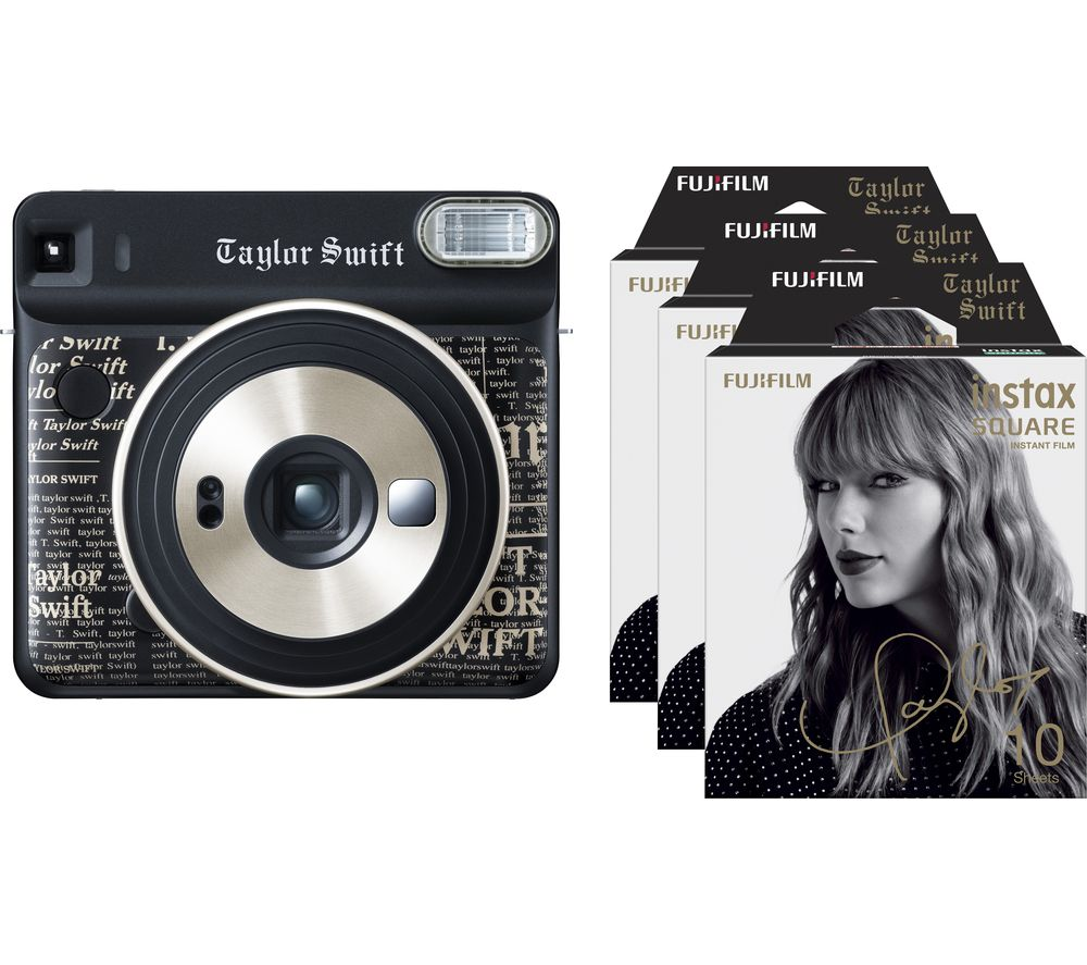 FUJIFILM SQ6 Taylor Swift Limited Edition Instant Camera – 30 Shots Included, Black, Black