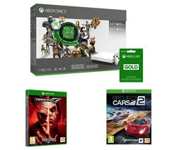 MICROSOFT Xbox One X, 3 Month Game Pass, Xbox LIVE Gold Membership x 2, Project Cars 2 & Tekken 7 Bundle