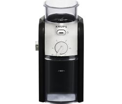 KRUPS Expert Burr GVX23140 Electric Coffee Grinder - Black & Stainless Steel