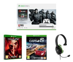 MICROSOFT Xbox One S Gears 5 Special Edition with Tekken 7, Project Cars 2 and Gaming Headset Bundle - 1 TB