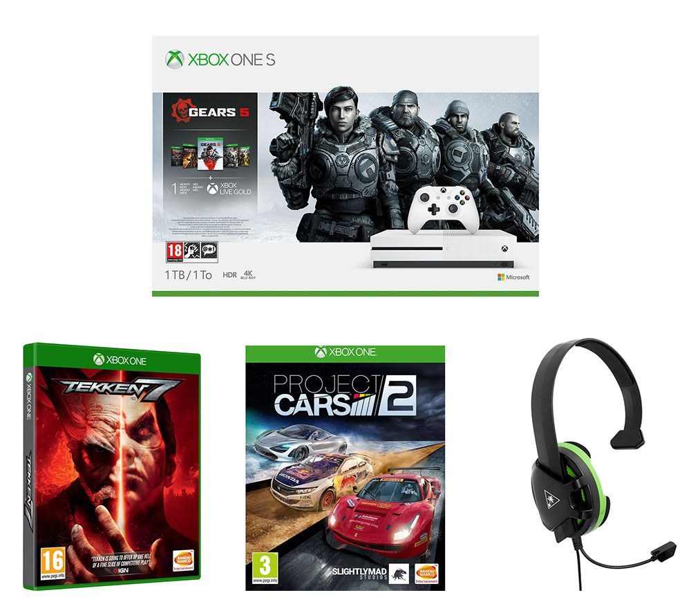 Microsoft  Xbox One S Gears 5 Special Edition with Tekken 7, Project Cars 2 and Gaming Headset Bundl