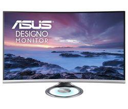 "ASUS Designo MX32VQ Quad HD 31.5"" Curved VA Monitor - Black & Grey"