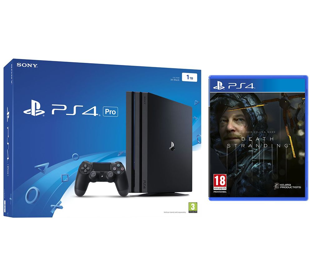 SONY PlayStation 4 Pro & Death Stranding Bundle - Black, Black