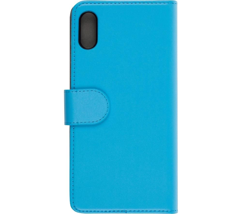 Image of Folio Huawei Y6 2019 Case with Screen Protector - Blue, Blue