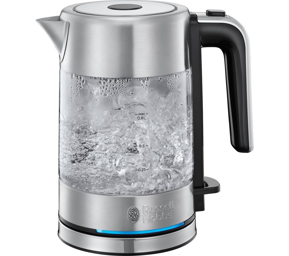 Compact Home 24191 Jug Kettle - Glass & Stainless Steel, Stainless Steel