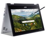 £259, ACER Spin 311 11.6inch 2 in 1 Chromebook - Intel® Celeron®, 64 GB eMMC, Silver, Chrome OS, Intel® Celeron® N4000 Processor, RAM: 4GB / Storage: 64GB eMMC, Battery life:Up to 10 hours,