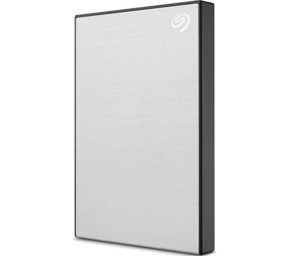 SEAGATE Backup Plus Slim Portable Hard Drive - 2 TB, Silver