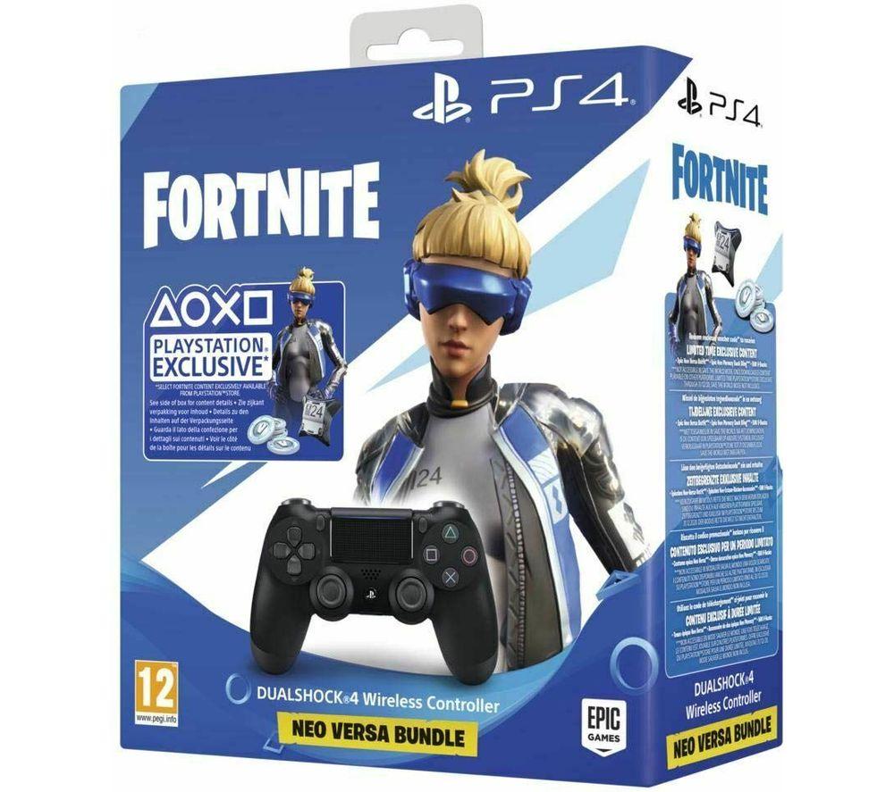 SONY Fortnite Neo Versa DualShock 4 V2 Wireless Controller Bundle, Black