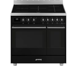 SMEG C92IPBL9-1 90 cm Electric Induction Range Cooker - Black