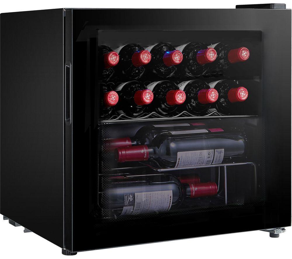 ESSENTIALS CWC15B20 Wine Cooler - Black, Black