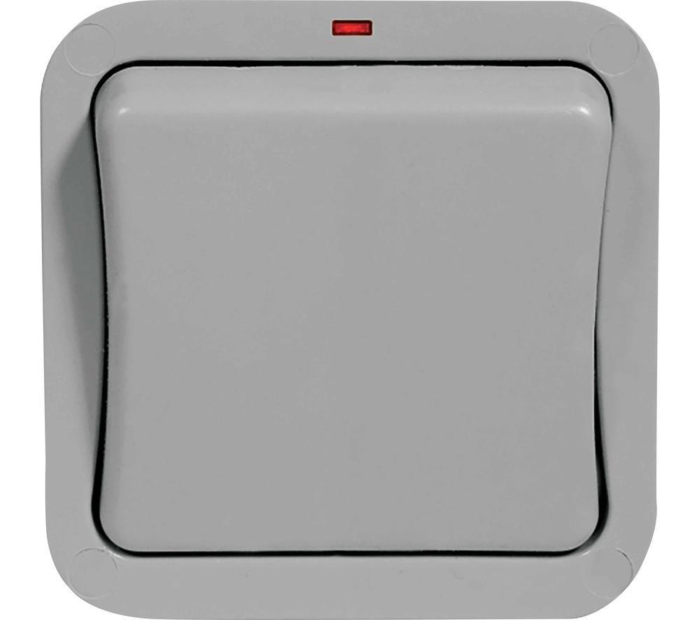 BG ELECTRICAL WP12-01 Push-button Switch - Grey