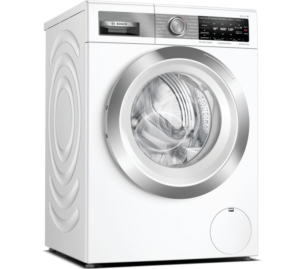 Image of BOSCH Serie 8 WAX32GH4GB WiFi-enabled 10 kg 1600 Spin Washing Machine - White, White