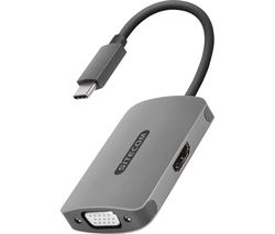 CN-373 VGA & HDMI to USB Type-C Adapter