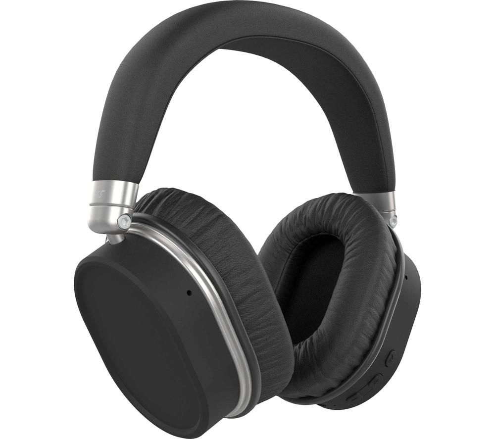 Kitsound Immerse 75 KSIMM75BK Wireless Bluetooth Noise-Cancelling Headphones - Black, Black
