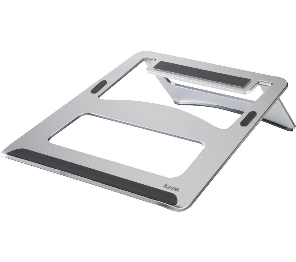 Image of HAMA Aluminium Laptop Stand - Silver, Silver