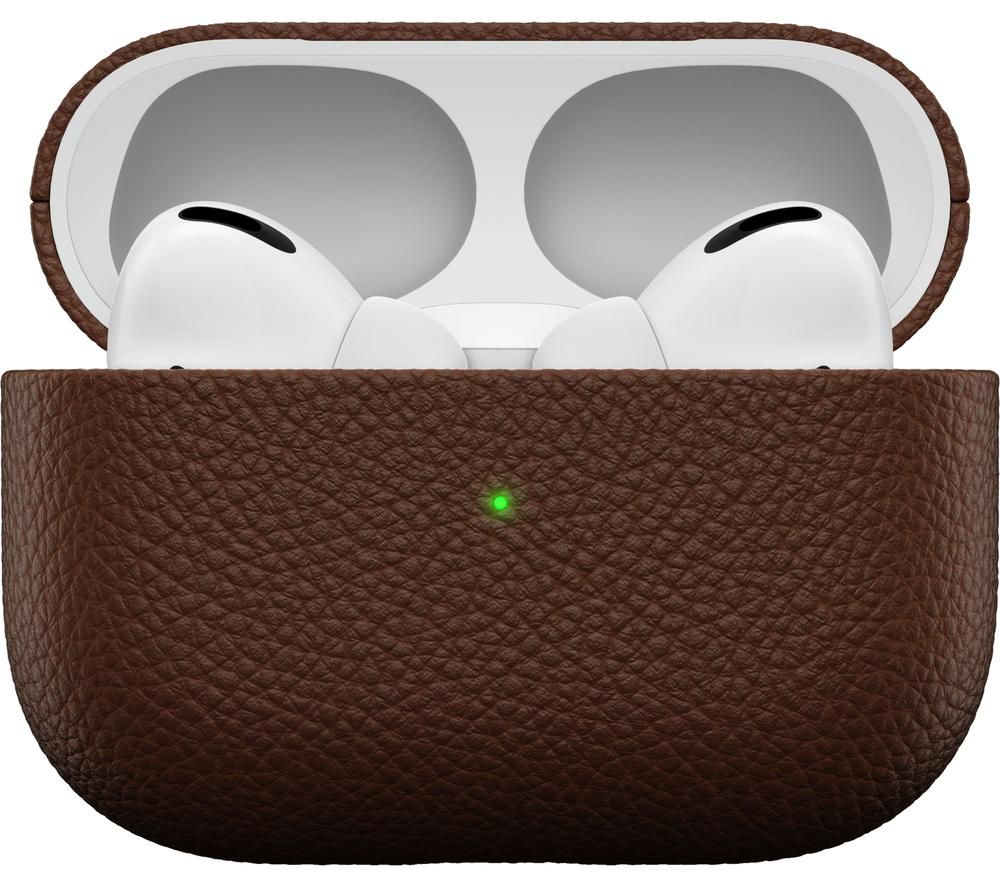 KEYBUDZ PodSkinz Artisan AirPods Pro Leather Case Cover - Natural Brown