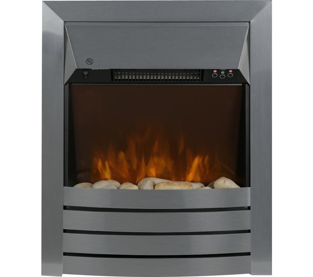Zanussi ZEFIST1001SS 2KW Stainless Steel Electric Inset Fire