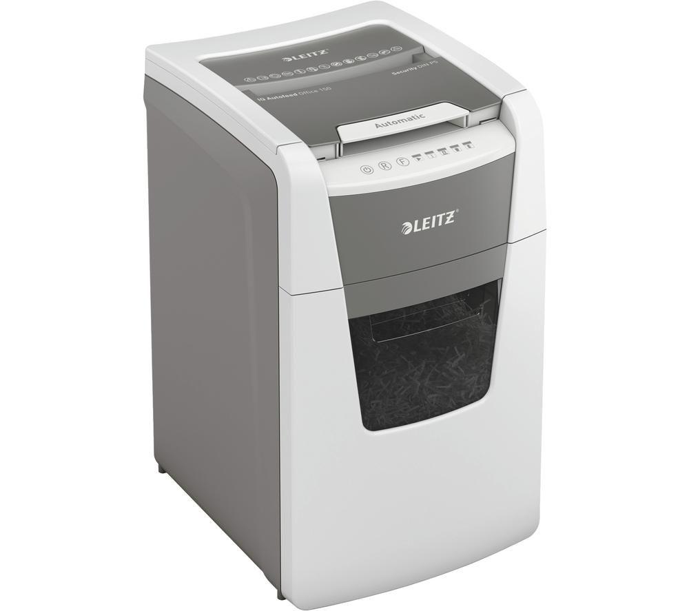 LEITZ IQ AutoFeed Office 150 P5 Micro Cut Paper Shredder
