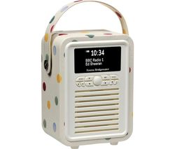 Retro Mini Portable DAB+/FM Bluetooth Radio - Emma Bridgewater Polka Dot