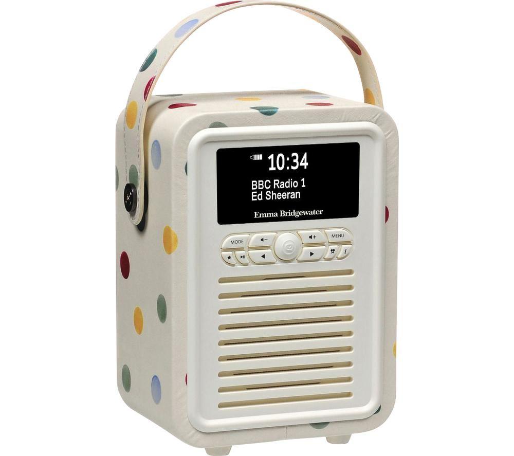 Image of VQ Retro Mini Portable DABﱓ Bluetooth Radio - Emma Bridgewater Polka Dot