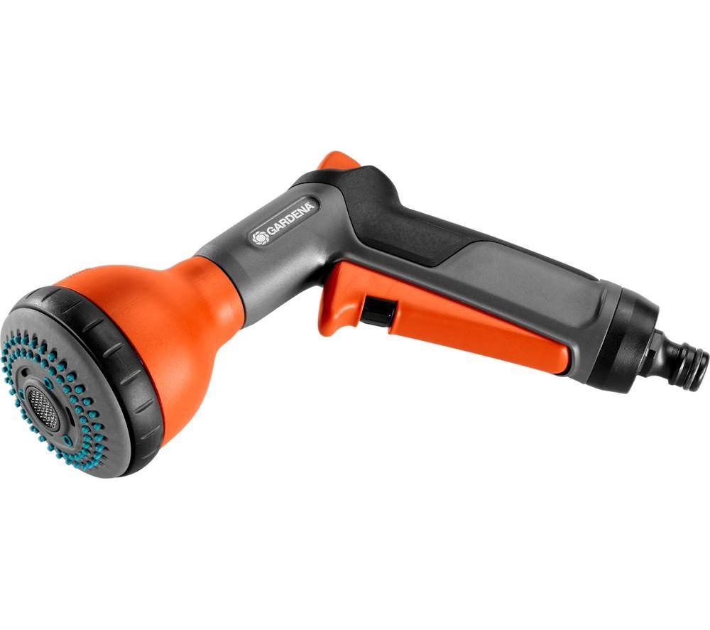 GARDENA 18313-20 Classic Multi Spray Gun - Black & Orange, Black
