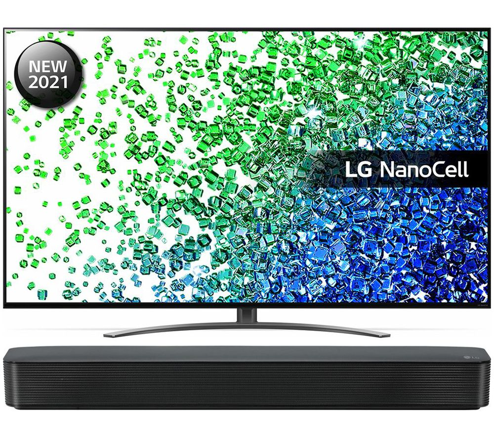 "LG 50NANO816PA 50"" Smart 4K Ultra HD HDR LED TV & SK1 2.0 Compact Sound Bar Bundle"
