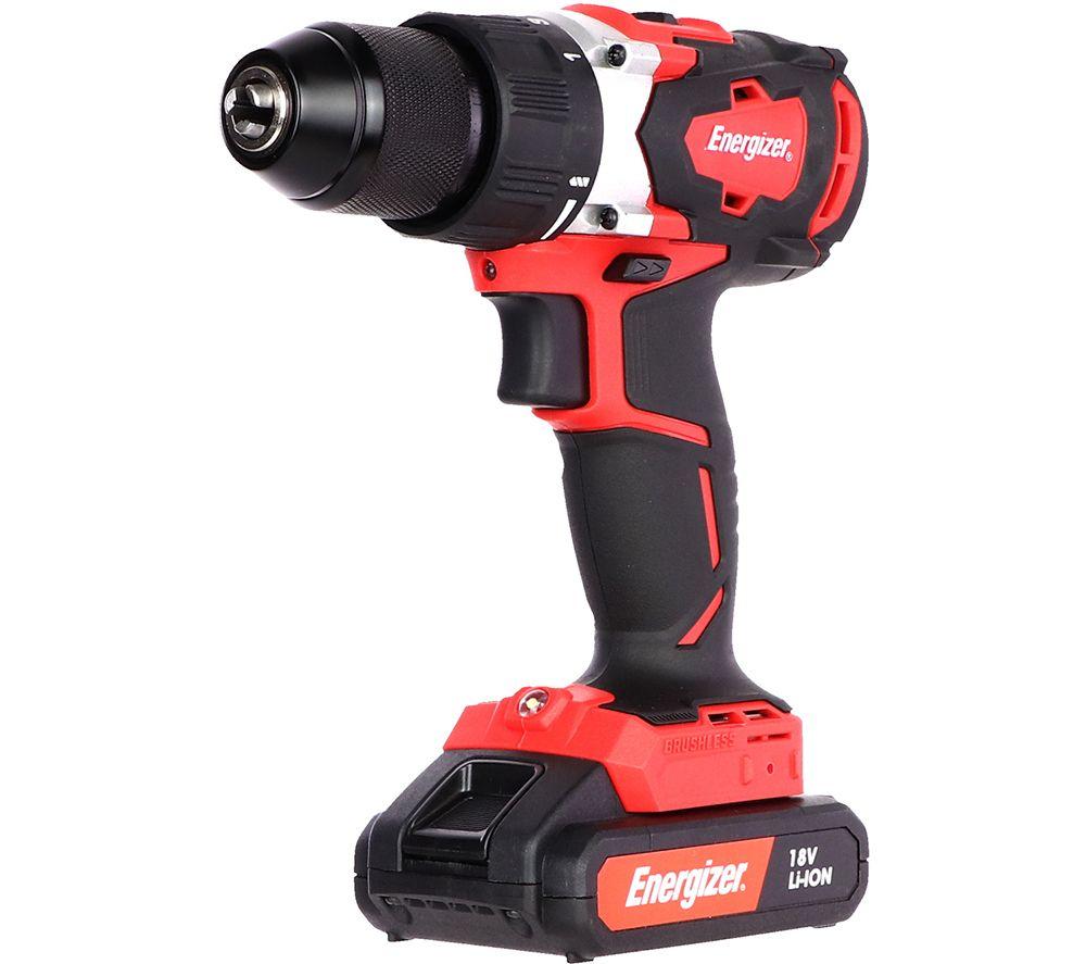 ENERGIZER EZPVB18V2B2AUK Cordless Drill Driver - Red & Black, Red