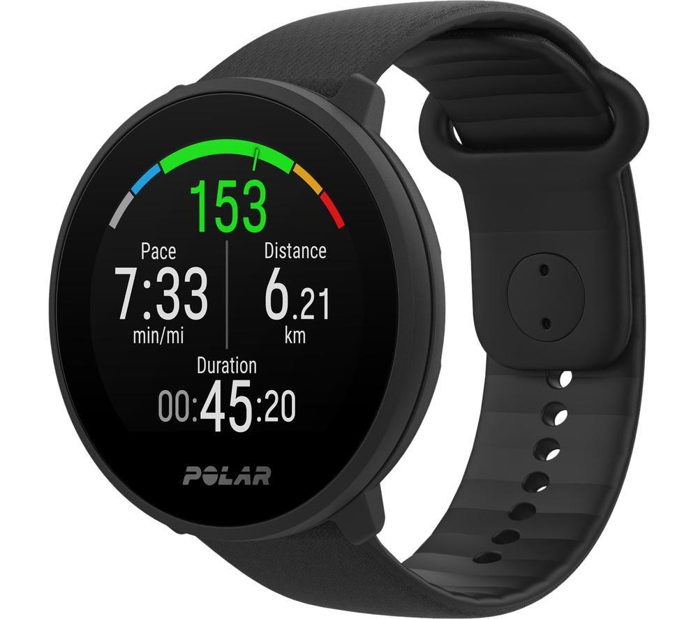 POLAR Unite Fitness Watch - Black, Small/Large, Black
