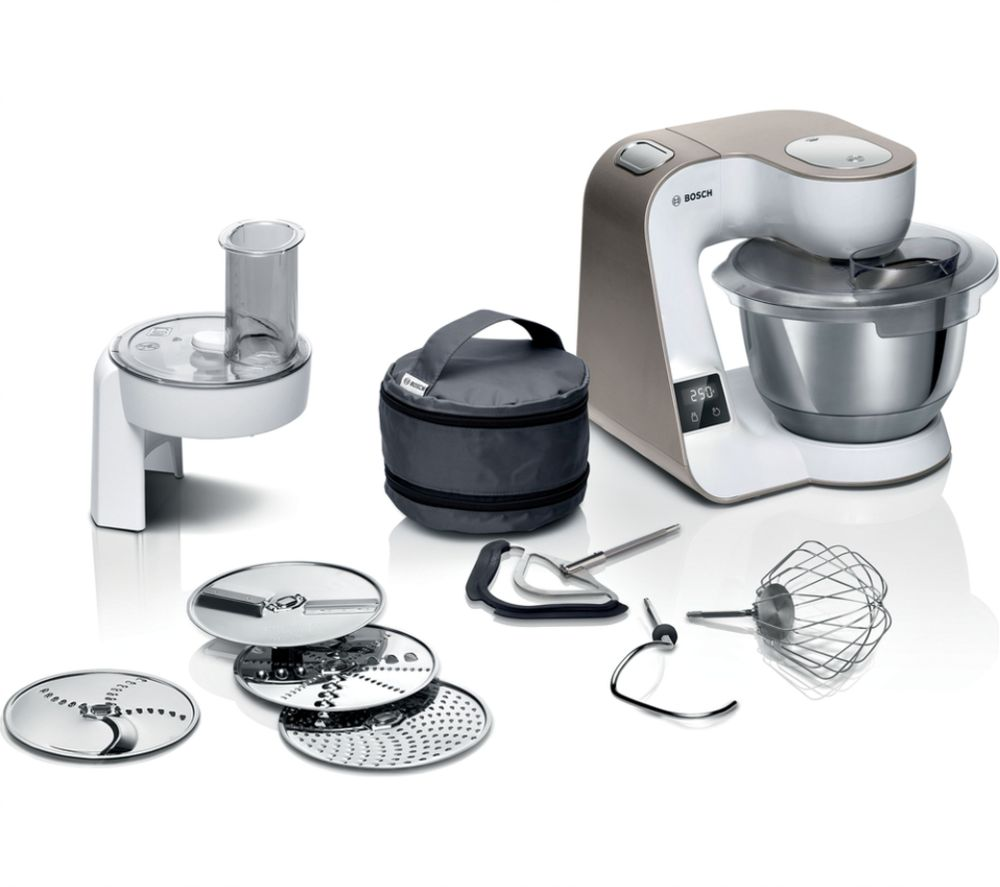 Bosch CreationLine MUM5XW10GB 3.9 Litre 1000W Stand Mixer with Scales - Champagne