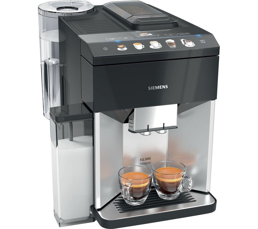 SIEMENS EQ.500 TQ503GB1 Bean to Cup Coffee Machine - Silver, Silver