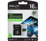 PNY Performance Class 10 microSD Memory Card - 16 GB
