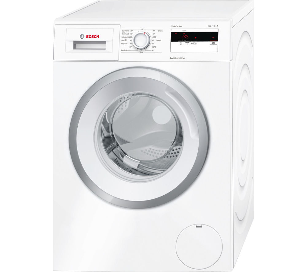 BOSCH Serie 4 WAN28080GB Washing Machine - White + Serie 4 WTN85280GB Condenser Tumble Dryer - White