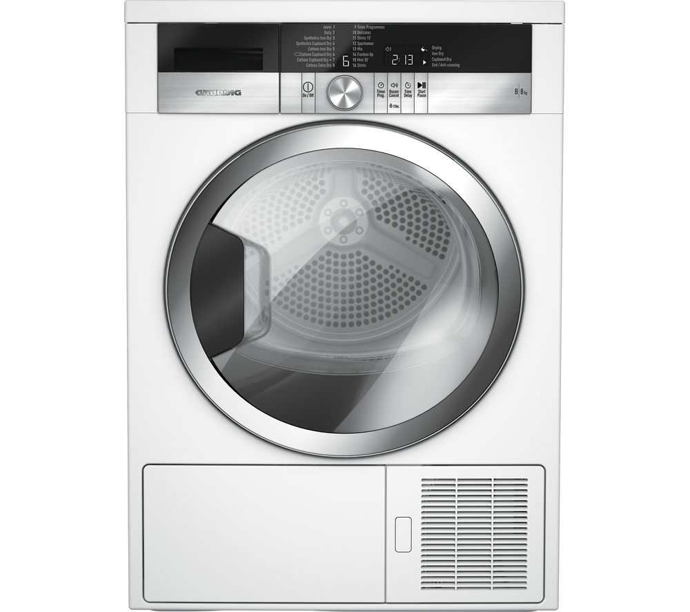 GRUNDIG GTN38110GCW Condenser Tumble Dryer - White