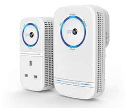 BT Home Hotspot Plus 1000 WiFi Powerline Adapter Kit - Twin Pack