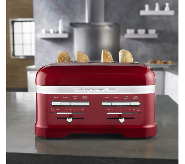 Perfect KITCHENAID Artisan 5KMT4205BCA 4 Slice Toaster   Red