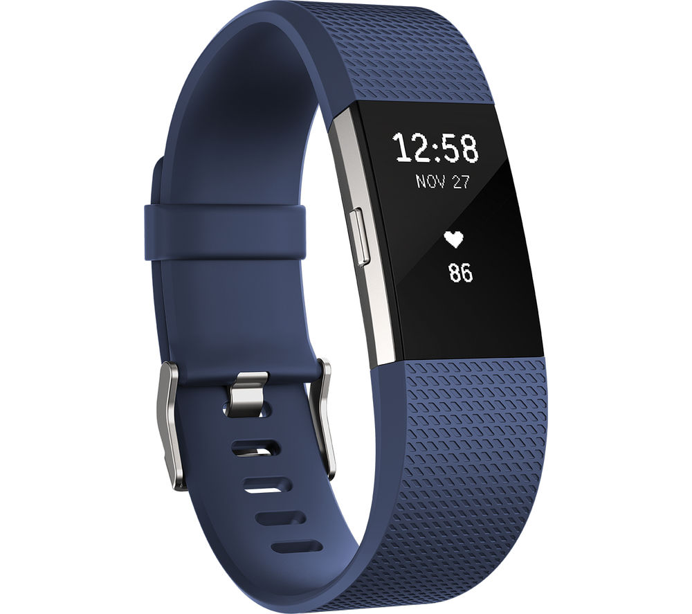 FITBIT Charge 2 - Blue, Large