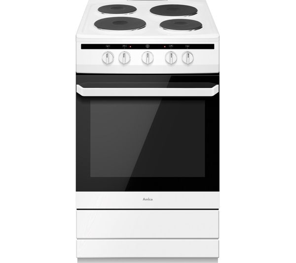 Image of AMICA 508EE1(W) 50 cm Electric Cooker - White
