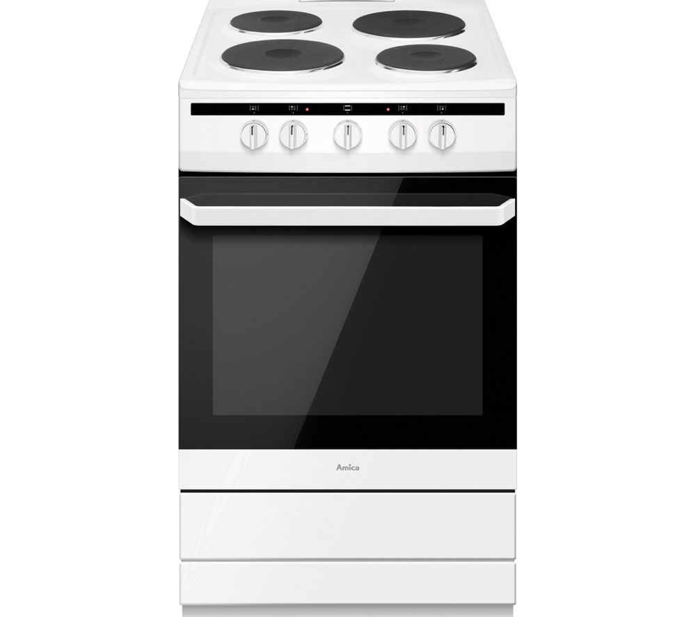 AMICA 508EE1(W) 50 cm Electric Cooker - White, White