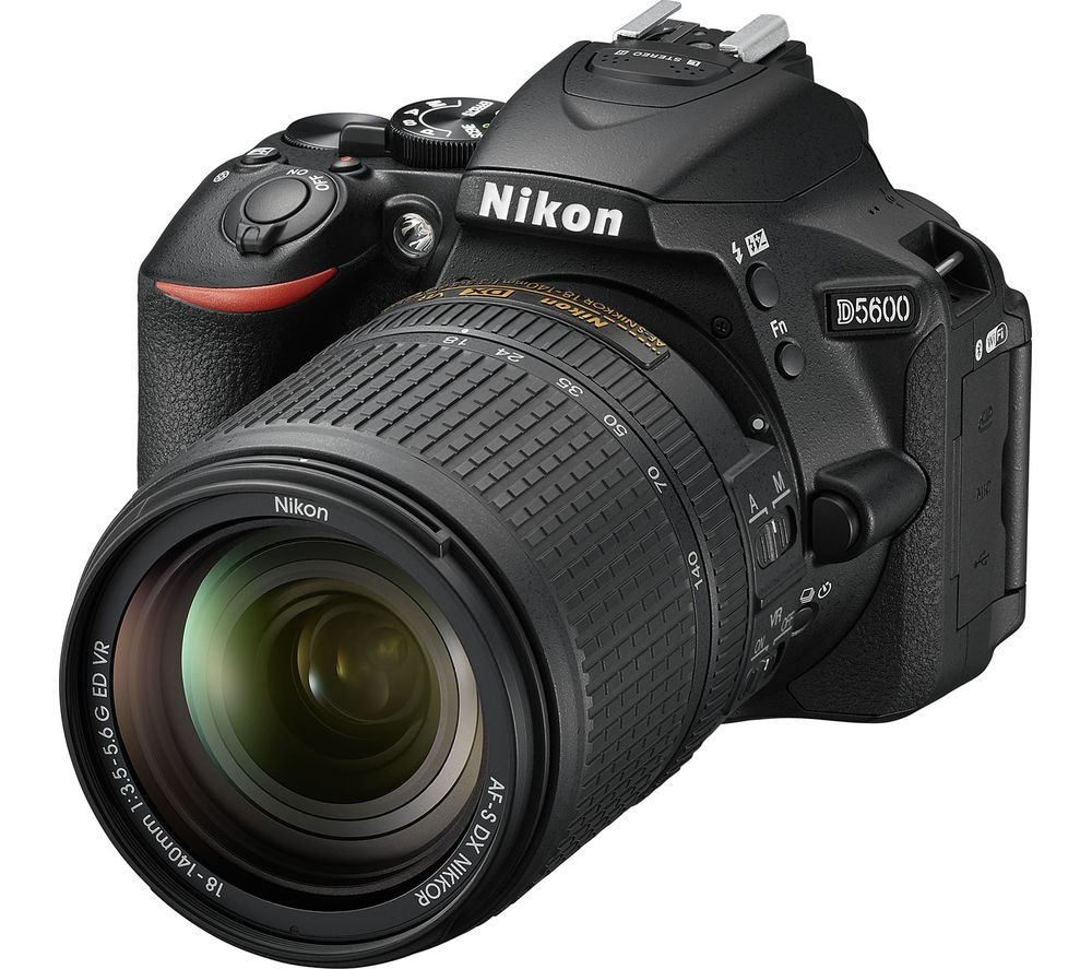 NIKON D5600 DSLR Camera with DX 18-140 mm f/3.5-5.6G ED VR Lens
