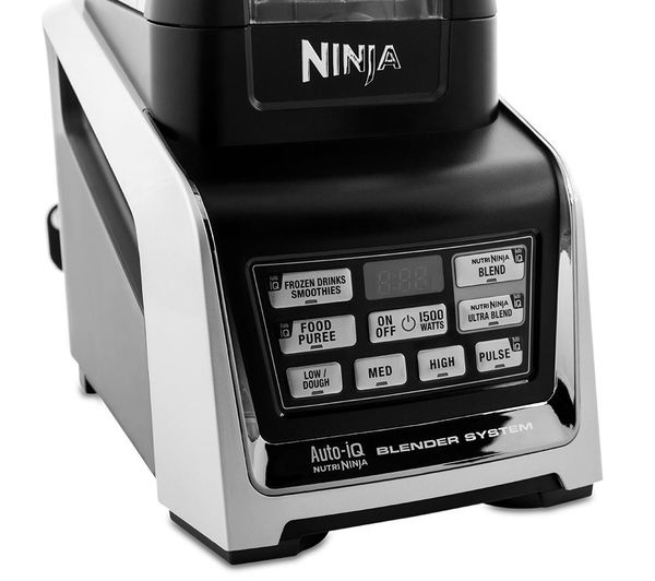 Black And Silver Kitchen Appliances: NINJA Nutri Ninja BL682UK2 Food Processor