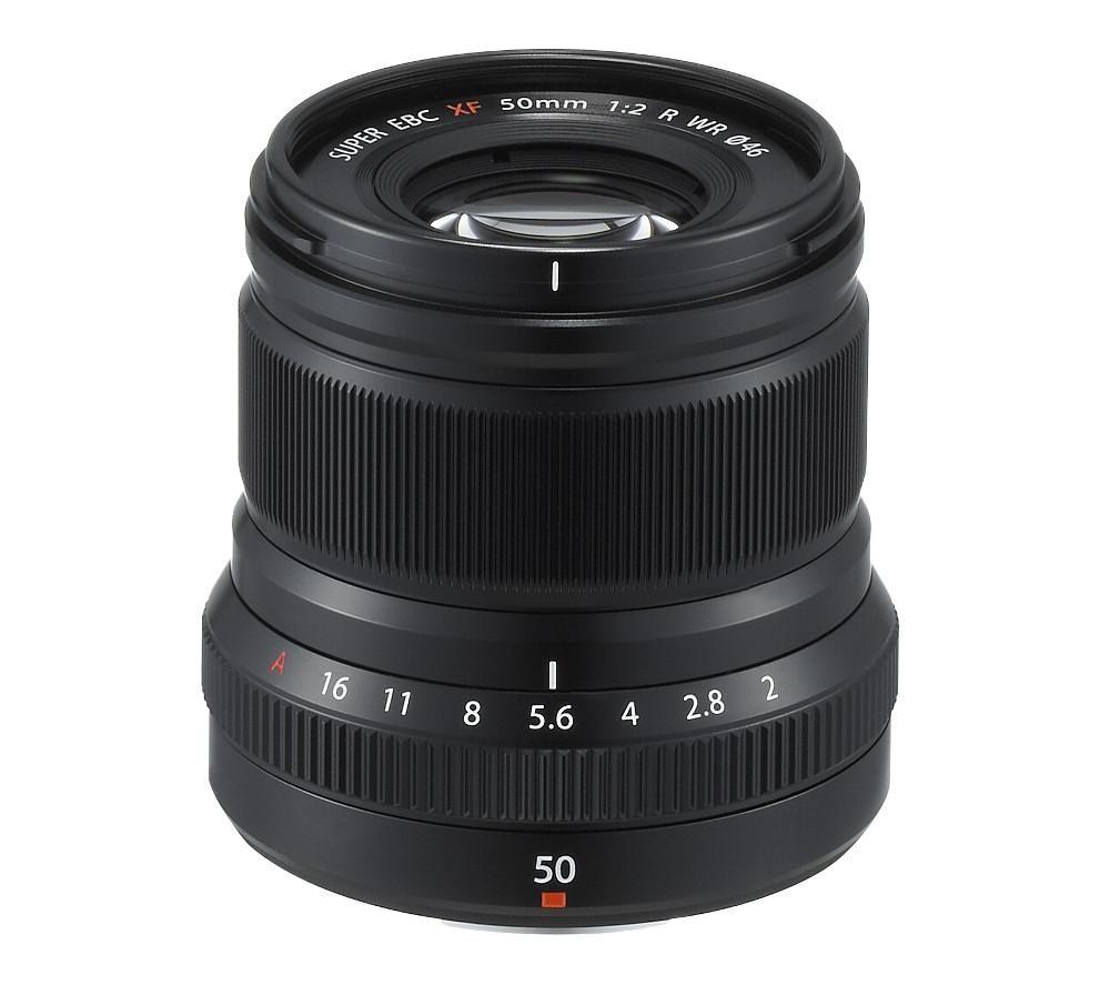 FUJIFILM Fujinon XF 50 mm f/2 WR Standard Prime Lens, Black