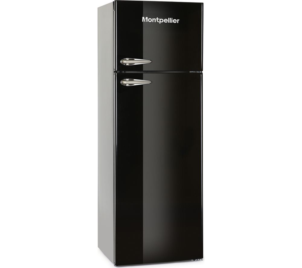 buy montpellier mab345k fridge freezer black free. Black Bedroom Furniture Sets. Home Design Ideas