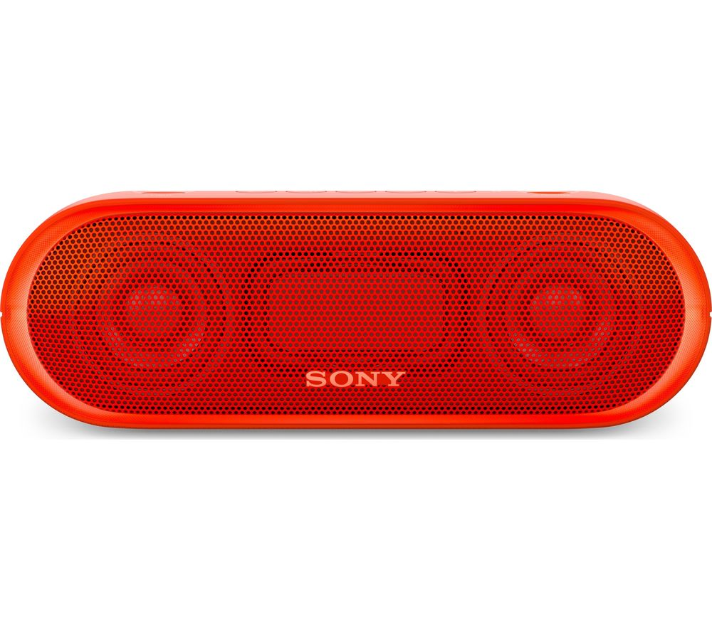 SONY SRS-XB20 Portable Bluetooth Wireless Speaker - Red