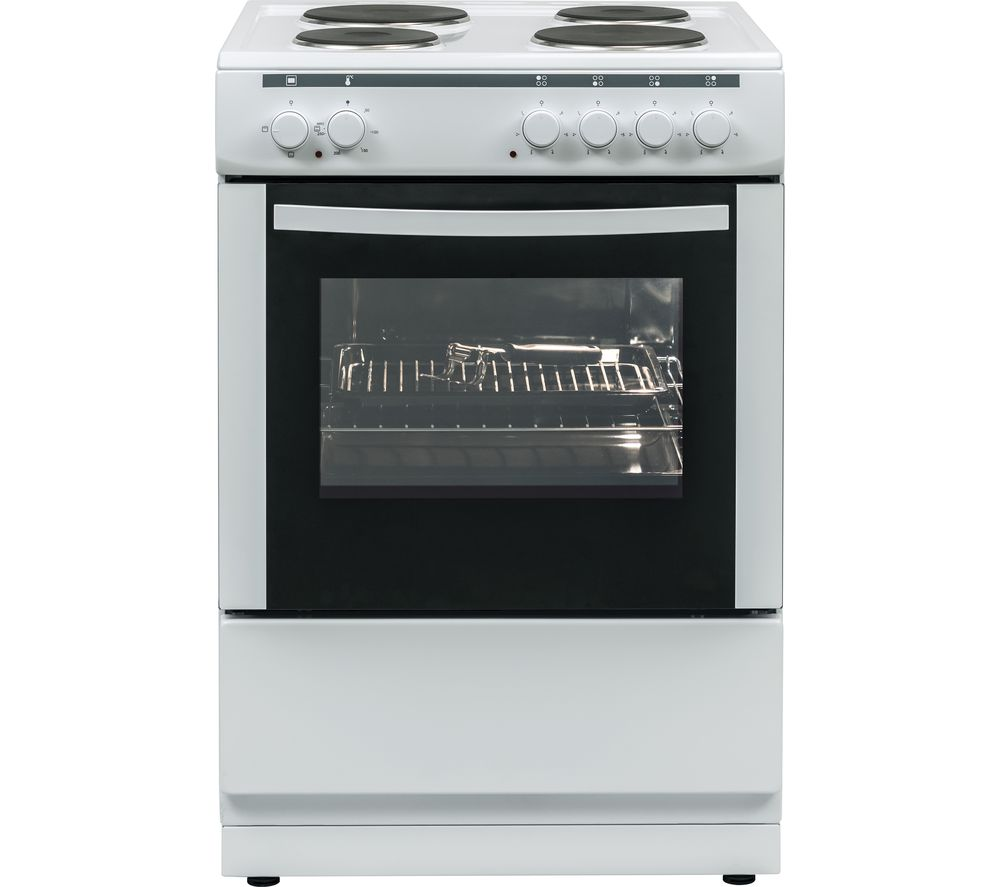 ESSENTIALS CFSE60W17 60 cm Electric Cooker - White