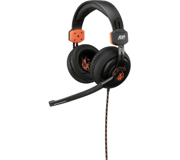Image of ADX Firestorm A01 Gaming Headset - Black & Orange
