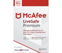 MCAFEE LiveSafe Premium 2018 - 1 year for unlimited devices