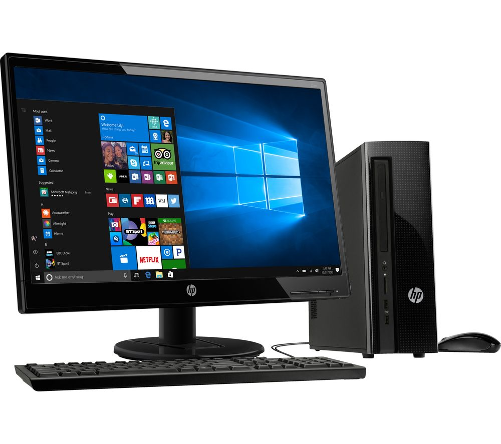 "HP 260-a104na Desktop PC & 22KD Full HD 21.5"" LED Monitor ..."