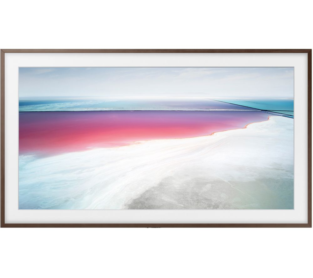 "SAMSUNG The Frame Art Mode UE55LS003 55"" Smart 4K Ultra HD HDR LED TV & Walnut Bezel"