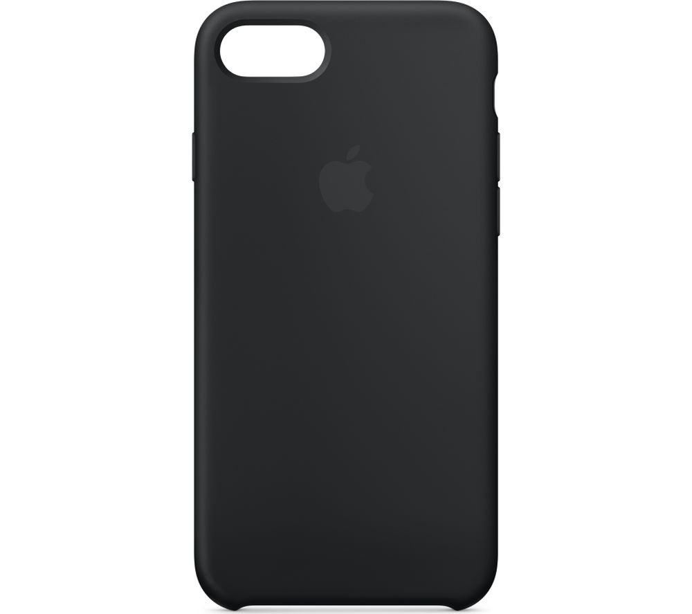 APPLE iPhone 8 & 7 Silicone Case - Black, Black cheapest retail price