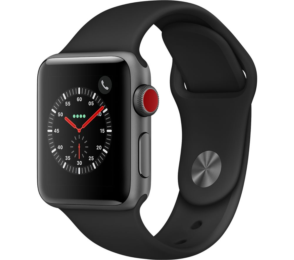 APPLE Watch Series 3 Cellular 38 mm Black cheapest retail price